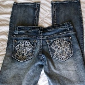 Paisley Sky Embroidered bling pocket jeans